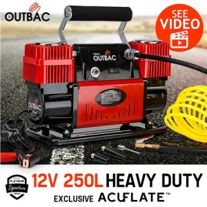 Outbac Air Compressor 12v 250L 4x4 Portable Car Compressor - OTB400
