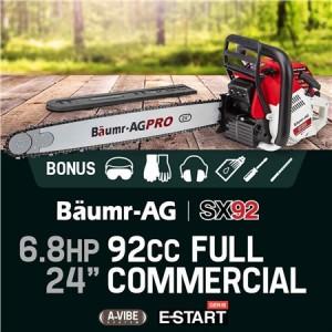 """Baumr-AG 24"""" 92cc SX92 Chainsaw"""