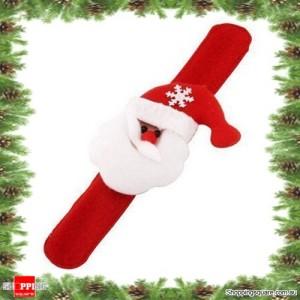 Santa Claus Christmas Xmas Character Slap Bracelet Wristband