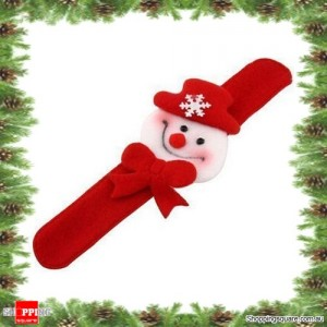 Snowman Christmas Xmas Character Slap Bracelet Wristband