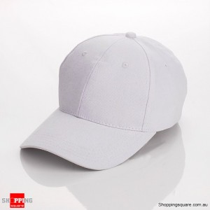 Unisex Curved Plain Solid Sports Cap Hat for Golf and Baseball White Colour