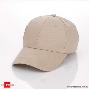 Unisex Curved Plain Solid Sports Cap Hat for Golf and Baseball Khaki Colour