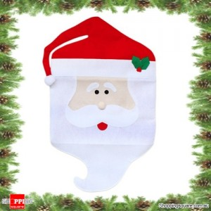 Cute MR Santa Claus Chair Cover Christmas Xmas Party and Home Decoration