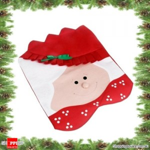 Cute MRS Santa Claus Chair Cover Christmas Xmas Party and Home Decoration