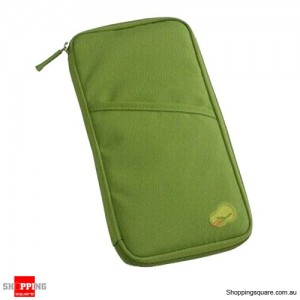 Travel Wallet Holder Organiser for Passport Document Ticket Credit Card Green Colour