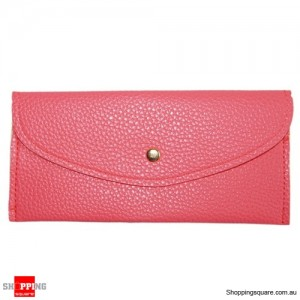 Ladies Minimalist Style Clutch Wrist Wallet Purse Watermelon Red Colour