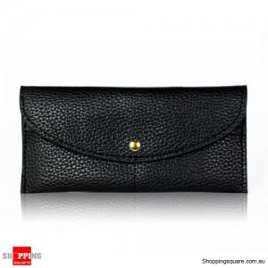 Ladies Minimalist Style Clutch Wrist Wallet Purse Black Colour