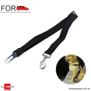 Adjustable Car Vehicle Safety Seat Belt Harness for Dog Pet Cat Black Colour