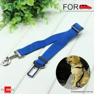 Adjustable Car Vehicle Safety Seat Belt Harness for Dog Pet Cat Deep Blue Colour