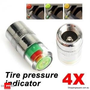 4 X Tire Pressure Indicator Valve Stem Caps
