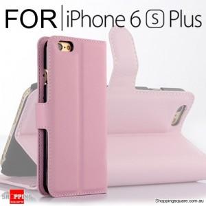 Leather Wallet Flip Case Cover For iPhone 6 /  Plus 6s Plus Pink Colour