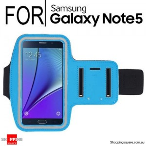 Light Blue Running Sport Gym Armband Case for Samsung Galaxy Note 5