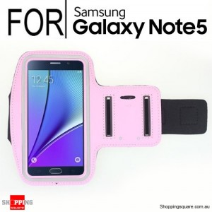 Pink Running Sport Gym Armband Case for Samsung Galaxy Note 5