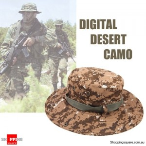 Men's Army Bucket Hat for Hunting/Fishing/Camping with Strings Digital Desert Camouflage