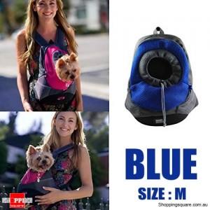 Pet Dog Holder Carrier Backpack Bag for Traveling/Camping Size M Blue Colour