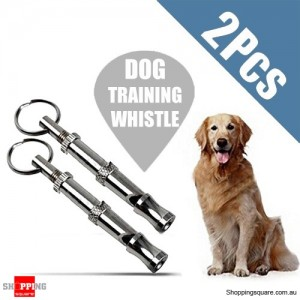 2x Pet Dog Training Obedience Whistle W/ Adjustable Ultrasonic Pitch