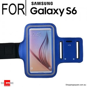 Sports Armband Case for Samsung Galaxy S6 Blue Colour