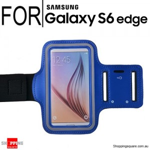 Sports Armband Case for Samsung Galaxy S6 Edge Blue Colour