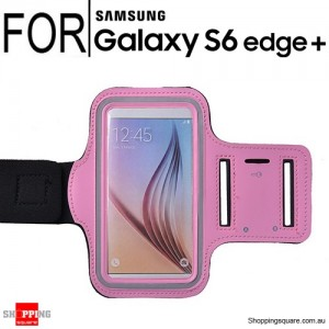Sports Armband Case for Samsung Galaxy S6 Edge Plus Pink Colour