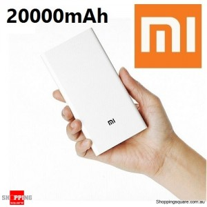 New XIAOMI 20000mAh Portable Dual USB 5.1V/3.6A Power Bank Li-ion Battery Charger for iPad iPhone Samsung 100% Genuine