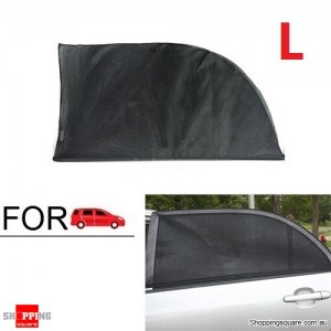 2X Car Window Sun Shade Mesh Cover UV Protector L Size