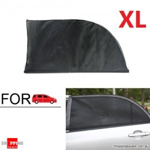 2X Car Window Sun Shade Mesh Cover UV Protector XL Size