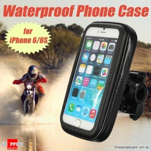 WaterProof Motorcycle Bike Handlebar Mount Case For iPhone 7, 6 & GPS