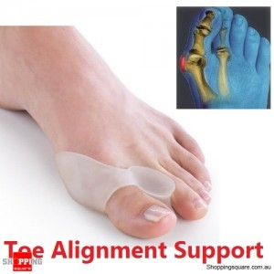 1 Pair of Silicone Toe Alignment Support