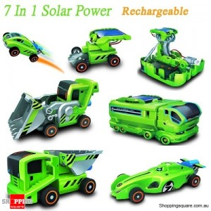 New 7 In 1 Solar Powered Rechargeable DIY Car Kit Educational Toy