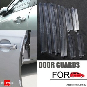 8pcs Transparent Rubber Strip Car Side Door Edge Guard