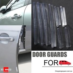 8pcs Transparent Rubber Strip Car Side Door Edge Guard