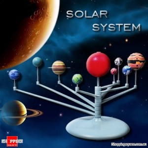 Cute Sunlight Solar System Celestial Bodies Planets Assemble DIY Toy Model