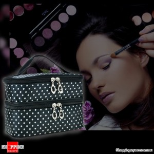 Women's Cosmetics Makeup Case/Handbag for Travelling Black Colour