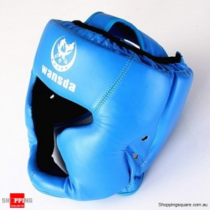 Boxing Helmet Headgear for Head Pretection/Training Blue Colour