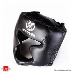 Boxing Helmet Headgear for Head Pretection/Training Black Colour
