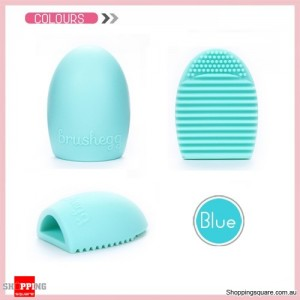 Egg Shaped Silicone Cosmetics Makeup Brush Scrubbing Cleaner Tool Tiffany Colour