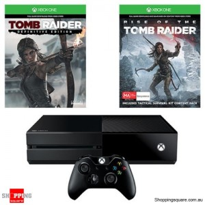 Xbox One 1TB Console & Rise Of The Tomb Raider Bundle