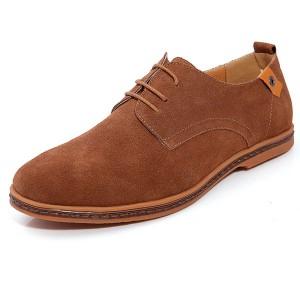 Mens Casual Fashion Business Gray Tide Leather Shoes Khaki Colour Size US 8.5