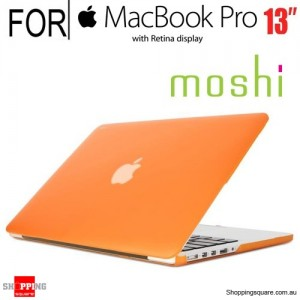 Moshi iGlaze Pro 13 R Laptop Hard Case for Macbook Pro 13 inch  Retina Display Orange Colour