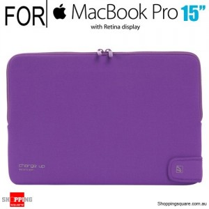 Tucano CHARGE_UP 15 for Macbook Pro/Retina 15 Inch Purple Colour