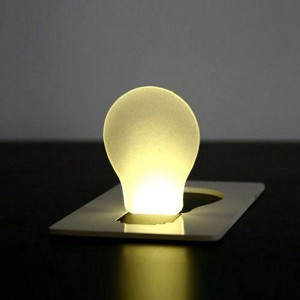 Portable LED Card Light Pocket Lamp Purse Wallet Emergency Light
