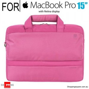 Tucano Dritta Slim bag for 15 Inch Macbook Pro with Retina Display or 13/14 Inch Notebook Pink Colour