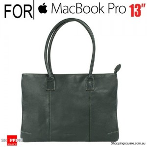 Tucano One Premium Tote Real Leather Bag Green for Macbook Pro 13 Inch and Ultrabook