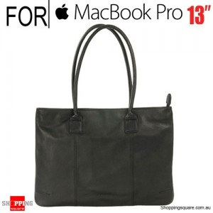 Tucano One Premium Tote Real Leather Bag for Macbook Pro 13 inch and Ultrabook Black Colour