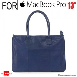 Tucano One Premium Tote Real Leather Bag Blue for Macbook Pro 13 Inch and Ultrabook