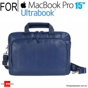 Tucano One Premium Slim Real Leather Bag for Macbook Pro 15 inch and Ultrabook Blue Colour