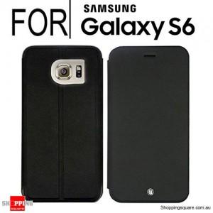 Uunique London Samsung Galaxy S6 Folio Hard Shell Black Colour