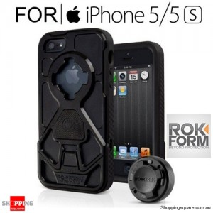 Rokform Rokshield V3 Protective Case and Flat Surface Mount GunMetal Black Colour for IPhone 5/5s