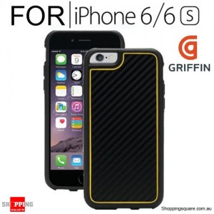 Griffin Identity Graphite Case Black/Yellow Colour for IPhone 6