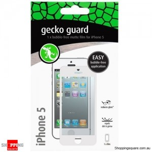 Gecko Guard White Anti Glare Matte Bubble Free Screen Protector For New Iphone 5/5S/5C